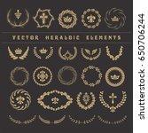 set laurel wreath   symbol of... | Shutterstock .eps vector #650706244