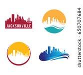 jacksonville city landscape... | Shutterstock .eps vector #650707684