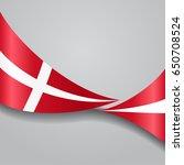 danish flag wavy abstract... | Shutterstock . vector #650708524