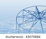 3d truss structure. building... | Shutterstock .eps vector #65070886