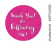 thank you  design template for... | Shutterstock .eps vector #650711020