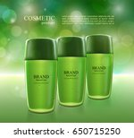cosmetic ads poster.... | Shutterstock .eps vector #650715250