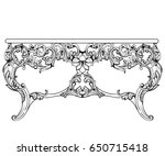 imperial baroque console table. ... | Shutterstock .eps vector #650715418