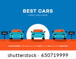 best cars in the city. vector... | Shutterstock .eps vector #650719999