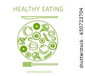 concept of a healthy diet ...   Shutterstock .eps vector #650723704