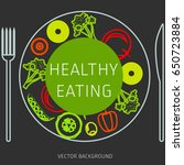 concept of a healthy diet ...   Shutterstock .eps vector #650723884