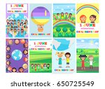 1 june holiday template with... | Shutterstock .eps vector #650725549