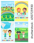 children's special day in... | Shutterstock .eps vector #650725930