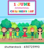 1 june international childrens... | Shutterstock .eps vector #650725993