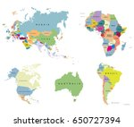 territory of continents   usa ... | Shutterstock .eps vector #650727394