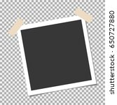 photo frame with sticky tape on ... | Shutterstock .eps vector #650727880