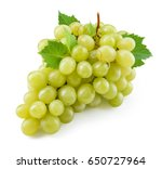 green grape. grapes with leaves ... | Shutterstock . vector #650727964