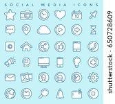 social media icons set | Shutterstock .eps vector #650728609