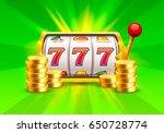 golden slot machine wins the... | Shutterstock .eps vector #650728774