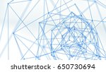 blue network shape. abstract... | Shutterstock . vector #650730694