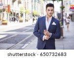 young handsome businessman... | Shutterstock . vector #650732683