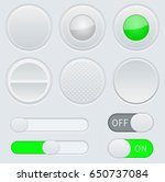 gray and green interface... | Shutterstock .eps vector #650737084