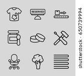 nobody icons set. set of 9... | Shutterstock .eps vector #650739994