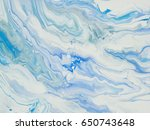 blue abstract art hand painted... | Shutterstock . vector #650743648