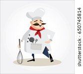 mustachioed chef illustration.... | Shutterstock .eps vector #650745814