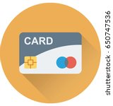 credit card vector icon | Shutterstock .eps vector #650747536