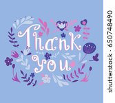 greeting card with floral... | Shutterstock .eps vector #650748490