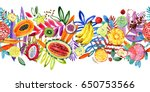 Seamless Pattern With Tropical  ...