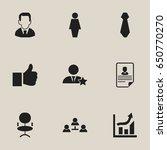 set of 9 editable business... | Shutterstock .eps vector #650770270