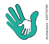 outstretched hand symbol | Shutterstock .eps vector #650770789