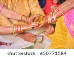 ceremonial in indian wedding ... | Shutterstock . vector #650771584