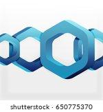 overlapping hexagons vector... | Shutterstock .eps vector #650775370