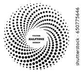 halftone vector design in form... | Shutterstock .eps vector #650775646