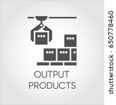 black icon of output products...   Shutterstock .eps vector #650778460