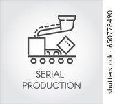 contour icon symbolizing serial ...   Shutterstock .eps vector #650778490