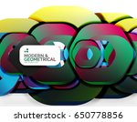 geometric abstract background ... | Shutterstock .eps vector #650778856