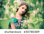 attractive beautiful young... | Shutterstock . vector #650780389