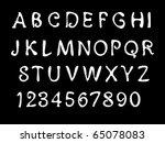 sketch alphabet. font. | Shutterstock .eps vector #65078083