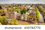 amsterdam city from the top.... | Shutterstock . vector #650783770