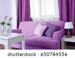 Lilac Color Accent In Modern...