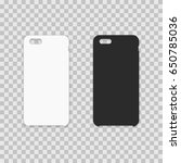 blank phone case. vector... | Shutterstock .eps vector #650785036