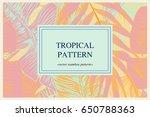 wild vector banner with... | Shutterstock .eps vector #650788363