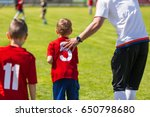 youth soccer substitution.  | Shutterstock . vector #650798680