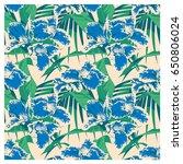 seamless summer hawaiian... | Shutterstock .eps vector #650806024