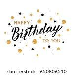 happy birthday greeting card... | Shutterstock .eps vector #650806510