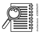 note book with magnifying glass | Shutterstock .eps vector #650809699