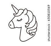 unicorn vector. horse head... | Shutterstock .eps vector #650810569