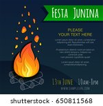 festa junina poster with... | Shutterstock .eps vector #650811568