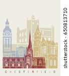 chesterfield uk skyline poster... | Shutterstock .eps vector #650813710
