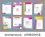 covers with minimal design.... | Shutterstock .eps vector #650820418