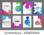 covers with minimal design.... | Shutterstock .eps vector #650820466